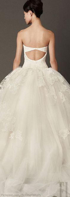 Vera Wang | Bridal F/W 2013-14 / Vestido de novia #boda