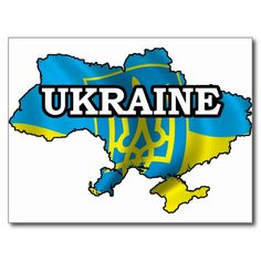 Map Of Ukraine Postcard