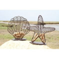 Shell and Starfish Wine Cork Holder Set