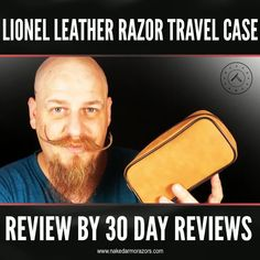 Justin, the great man behind 30 Day Reviews recently reviewed our Lionel Leather Razor Travel Case. Here is a short snippet of his review where he mentioned the different features of the case.   To view his whole review video, you can visit his channel on Youtube.  To get your own Lionel Leather Razor Travel Case, visit our website NOW!  #nakedarmor #wetshave #shaving #straightrazor #shavingproducts #mensgrooming #customerfeedback #productreview #review #testimonial #doppkit #travelcase Dopp Kit, Wet Shaving, Straight Razor, Men's Grooming, 30 Day, Channel, Website, Youtube, Leather