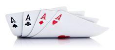 Cuatro ases del póquer.
