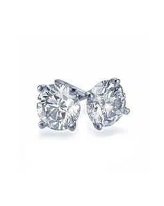 2.00 carat Real Natural TIG Certified F/SI1 Round Diamond Earrings