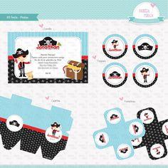 Festa Pirata - Kit Digital <br> <br>Você escolhe os itens que deseja personalizar, como convite, rótulo para água, caixinha, tampa para marmitinha, bandeira com nome, placa para comidinhas, etc. <br> <br>Escolha a melhor opção para você: <br>- 5 itens = R$ 65,00 <br>- 8 itens = R$ 95,00 <br>- 12 itens = R$ 135,00 <br>- 15 itens = R$ 160,00 <br>- 18 itens = R$ 180,00 <br> <br>Você receberá seu kit por e-mail e poderá imprimir em sua casa ou em uma gráfica rápida. <br>Imprima a quantidade que…