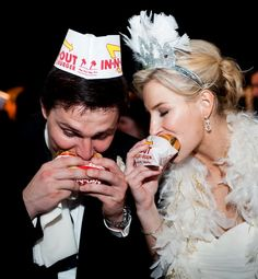 Hottest (and Wackiest) Wedding Trends - With the rapidly growing popularity of food trucks in big cities like New York, Los Angeles and Austin, it comes as no surprise that they are rolling their way into wedding receptions, too. Food Trucks, In And Out Burger, Summer Wedding, Dream Wedding, Old Fashioned Ice Cream, Late Night Food, Something Old Something New, Wedding Trends, Wedding Ideas