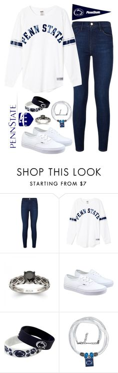 """""""Penn State"""" by ahjazsah101 ❤ liked on Polyvore featuring Frame Denim, Vans, Forever Collectibles, WinCraft, pennstate and penn_state"""