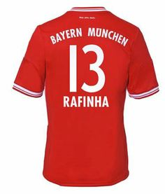 2013-2014 Bayern Munich Adidas Home Football Shirt 13 Rafinha http   www 064a2d8247018
