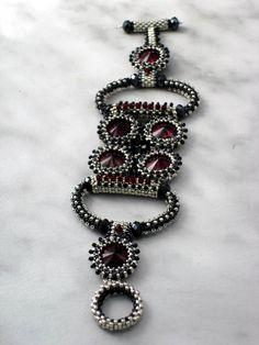 Black, Silver, & Red Spring Fling Bracelet - Jewelry By Ellen