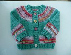 Newborn baby hand knitted cardigan