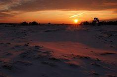 Sunset on the Kootwijkerzand...