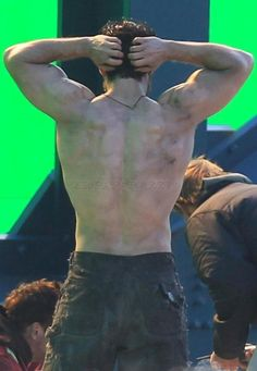 Henry Cavill. Man of Steel.  Too bad he's still got pants on.  The tease!
