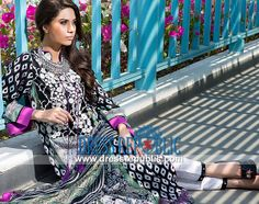 Mahnoush Embroidered Summer Lawn Collection 2014   by www.dressrepublic.com