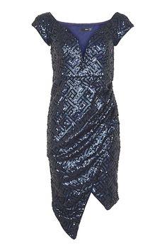 Topshop Bodycon Midi Dress By Tfnc in Black   Lyst