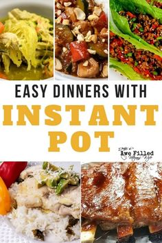 Have you got an instant pot but wonder what to fix it in?Here is a great list of easy dinners with the instant pot! Perfect for the Military or Veterans Spouse that is on the go or just needs fresh ideas! Pot Roast Recipes, Dinner Recipes, Paleo Recipes, Delicious Recipes, Crockpot Recipes, Easy Recipes, Yummy Food, Easy Family Meals, Easy Meals