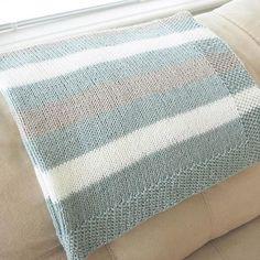 baby blanket yarn patterns knitting how to crochet Easy Striped Baby Blanket Knit Pattern Crochet Blanket Patterns, Baby Knitting Patterns, Baby Patterns, Striped Crochet Blanket, Striped Knit, Easy Knit Baby Blanket, Knitted Baby Blankets, Chunky Blanket, Blanket Yarn