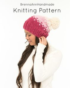 Knitting Terms, Fair Isle Knitting, Hand Knitting, Knitting Patterns, Knitted Heart, Beanie Pattern, Pom Pom Hat, Knitting Accessories, Knitting For Beginners
