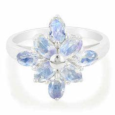 Rainbow Moonstone Ring  13th wedding anniversary gemstone