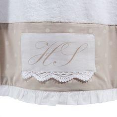 Badetuch SANS SOUCI aus Baumwolle, 70 x 140cm, weiß/beige