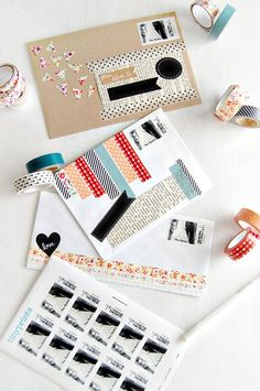 With just a couple minutes to spare you can easily transform plain envelopes by simply using washi tape and personalized postage stamps. Photo: @InspirationNook