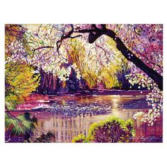 Canvas print with a multicolor Central Park design. By artist David Lloyd Glover.  Product: Wall artConstruction Material...