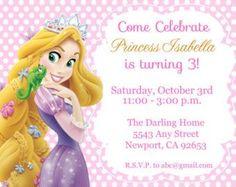 11 Mejores Imágenes De Invitaciones Rapunzel Rapunzel