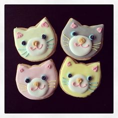 Adorable kitty cat cookies