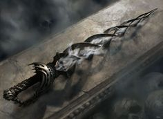 """.The Vorpal Sword - A blade so black. Used by the Black Knight during the war. Now used by his """"successor."""""""