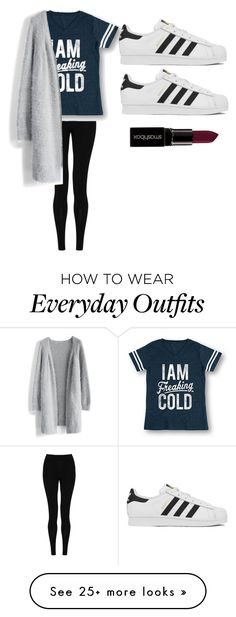 """everyday outfit"" by allidiva on Polyvore featuring M&S Collection, Chicwish, adidas, Smashbox, women's clothing, women's fashion, women, female, woman and misses"