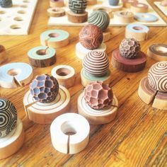 Texture balls for making prints in the sand. Use as a sand therapy or play therapy tool, or just use them in your mini zen garden! Roll or stamp them in the sand to create cool textures.