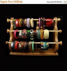 ON SALE Standing Bracelet Holder Organizer by SpiritRanchCreations