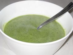 Broccoli and Arugula Soup - olive oil, garlic, yellow onion, broccoli, water, salt & pepper, arugula, lemon