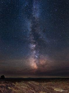 The Milky Way from Hell's Half Acre.  Five photo panorama. The obscuration near the horizon is from nearby forest fires.