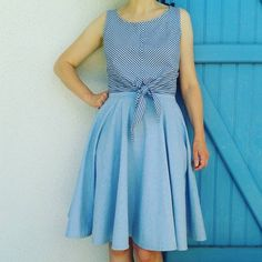 A gingham Hunter Tank, a circle skirt and a hot summer day. Perfect. @labistrake