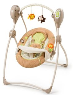 Apart from the two brands that we have been reviewing so far, this baby swing set is from a brand named Summer Infant. It is one the same price range like Graco Simple Sway Swing but offers a tad bit more features than it. In fact, its outlook is more stylish. Though it has a premium feel to it, you could say that it is cheap by its outlook.