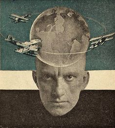 "carmelitalikes:      Rodchenko, Photomontage for rear cover of Mayakovsky's ""A Conversation with a Tax-collector about Poetry,"" 1926.    Thank You iconoclassic"