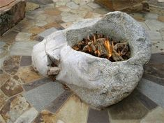 Great fire pit idea... another great use for some concrete and free form sculpting...