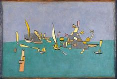 Paul Klee 'Boote und Klippen' (Boats and Cliffs) 1927 Oil on cardboard 46 x 67 cm