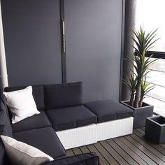 Exterior Design, Interior And Exterior, Interior Ideas, Balkon Design, Enjoy The Sunshine, Loft Style, Balcony Garden, Outdoor Furniture, Outdoor Decor