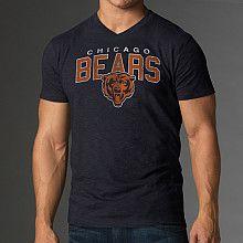 Chicago Bears Women's V-Neck Scrum T-Shirt - Navy Blue