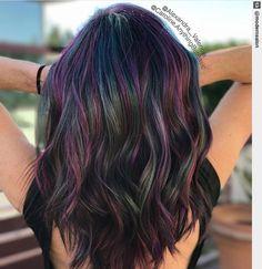 Lavender Hair Tips, Lavender Hair Colors, Hair Color Purple, Hair Dye Colors, Cool Hair Color, Dyed Curly Hair, Dye My Hair, Curly Hair Styles, Under Hair Color