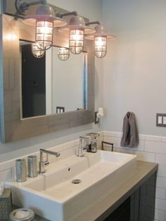Industrial Bathroom Favorite Customer Spaces Pinterest - Industrial bathroom sconce