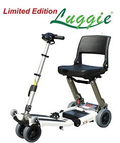 Free Rider USA  Luggie Standard  Compact Lightweight Foldable Scooter  4Wheel  Ivory *** Click the VISIT button for detailed description