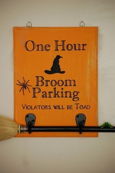 Diary of a Crafty Lady: Broom Parking Halloween Sign by cheryl