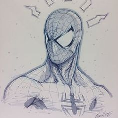 Spider-Man sketch by Alvin Lee - Visit to grab an amazing super hero shirt now on sale! Marvel Art, Marvel Dc Comics, Spiderman Kunst, Spiderman Marvel, Character Art, Character Design, Man Sketch, Drawing Sketches, Drawings