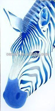 De colores brillantes pinturas al óleo abstracta pintura de la cebra animales…