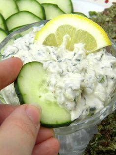 Creamy Cucumber Dressing or Dip --- Paleo, raw, vegan --- yummmmmm