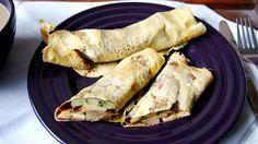 W kuchni Zouuzy: Śniadanie - cienkutkie omlety waniliowe z owocami