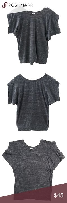 "Steven Alan SS Dolman Tee Heather blue-grey Dolman Sleeve tee.  Chic & casual bloussant fit. Size medium.  11""w sleeve opening with 1 1/2""w banded hem.   20 1/2""w bottom opening w 2 1/2""h banded hem.  23""w from pit to pit.  28"" long.  Super soft and comfy jersey, 70% cttn/ 30% cupro. Steven Alan Tops Tees - Short Sleeve"