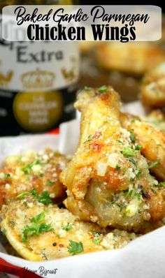 These Parmesan Chicken Wings are perfect as the star of the meal or served as an appetizer. Either way theyre The post Crispy Baked Garlic Parmesan Chicken Wings Recipe Girls Pop-Dishes appeared first on Tasty Recipes. One Dish Meals Tasty Recipes Chicken Wing Sauces, Cooking Chicken Wings, Baked Chicken Wings, Chicken Wing Recipes, Keto Chicken, Cooking Fish, Cooking Steak, Butter Chicken, Garlic Parmesan Wing Sauce