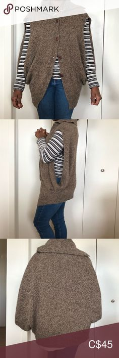 Tubino Buttoned Vest Cape (One Size) Plus Fashion, Fashion Tips, Fashion Trends, Shrug Sweater, One Size Fits All, House Colors, Wool Blend, Cape, Sweaters For Women
