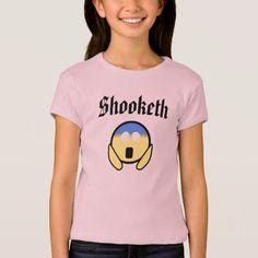 Custom Color Funny Shooketh OMG Emoji Pink Shirt - black gifts unique cool diy customize personalize